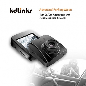 [2018 New Model] KDLINKS X3 2.7K Super HD 2688x1520 Wide Angle Dashboard Car DVR Vehicle Dash Cam with G-Sensor & WDR Night Mode & Loop Recording, Support 64/128GB - 5