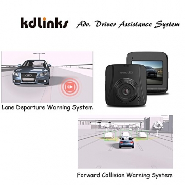 [2018 New Model] KDLINKS X3 2.7K Super HD 2688x1520 Wide Angle Dashboard Car DVR Vehicle Dash Cam with G-Sensor & WDR Night Mode & Loop Recording, Support 64/128GB - 8