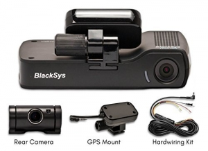 BlackSys CH-100B 2 Channel 1080P FULL HD Front and Rear Pro Wide Angle Dashboard Recorder | Dash Cam With G-Sensor + Up to 128gb Memory | Car Parking Mode | Wifi App - 1