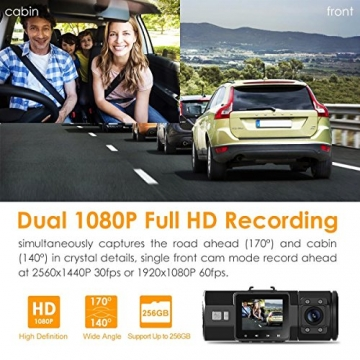 Vantrue N2 Pro Uber Dual Dash Cam Dual 1920x1080P Front and Cabin Dash Camera (2.5K 2560x1440P Single Front) 1.5