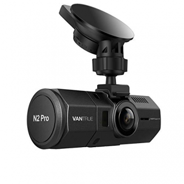 """Vantrue N2 Pro Uber Dual Dash Cam Dual 1920x1080P Front and Cabin Dash Camera (2.5K 2560x1440P Single Front) 1.5"""" 310° Car Camera w/Infrared Night Vision, Sony Sensor, Parking Mode, Support 256GB max - 1"""